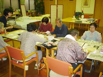 個人レクリエーション/堺市 介護施設 認知症予防